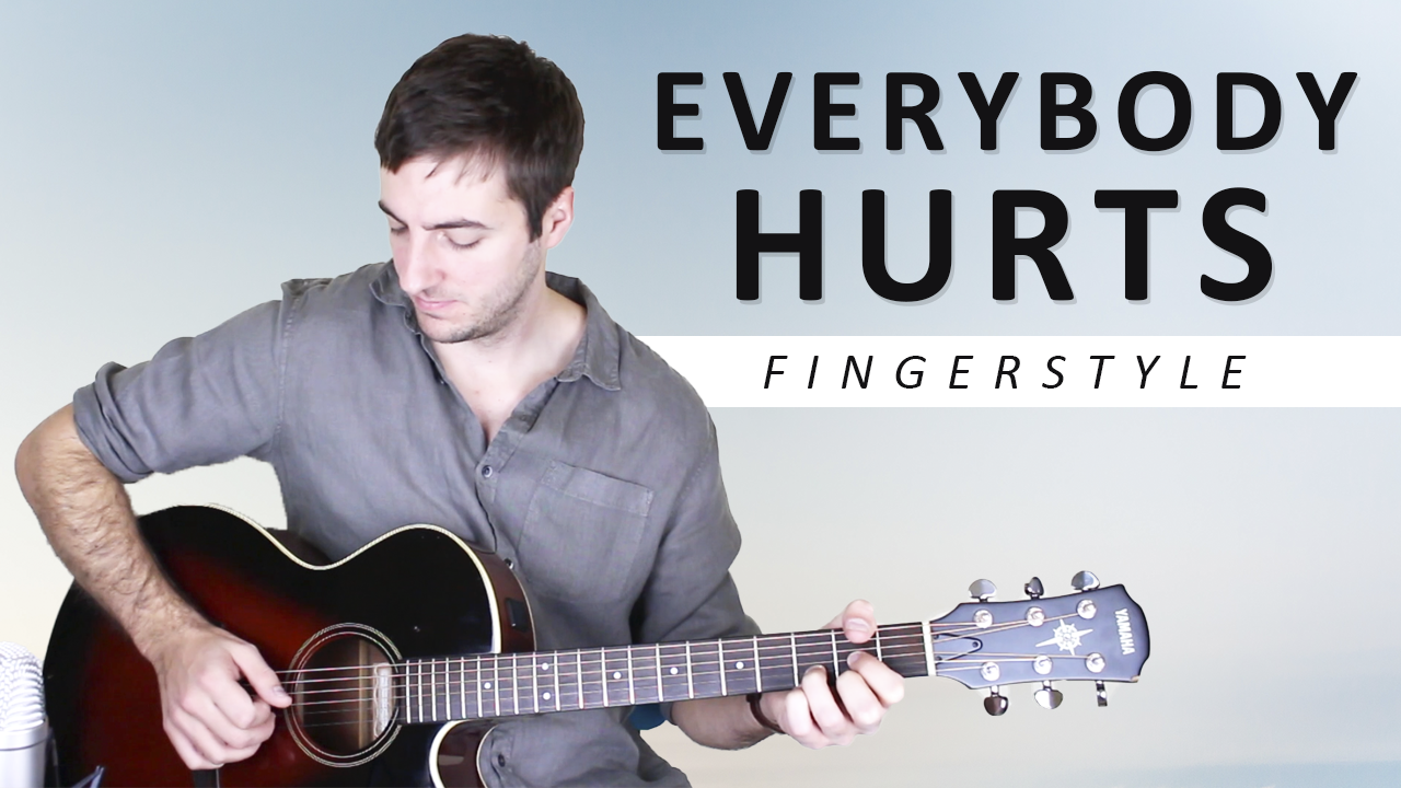 Everybody Hurts full guitar lesson with TAB