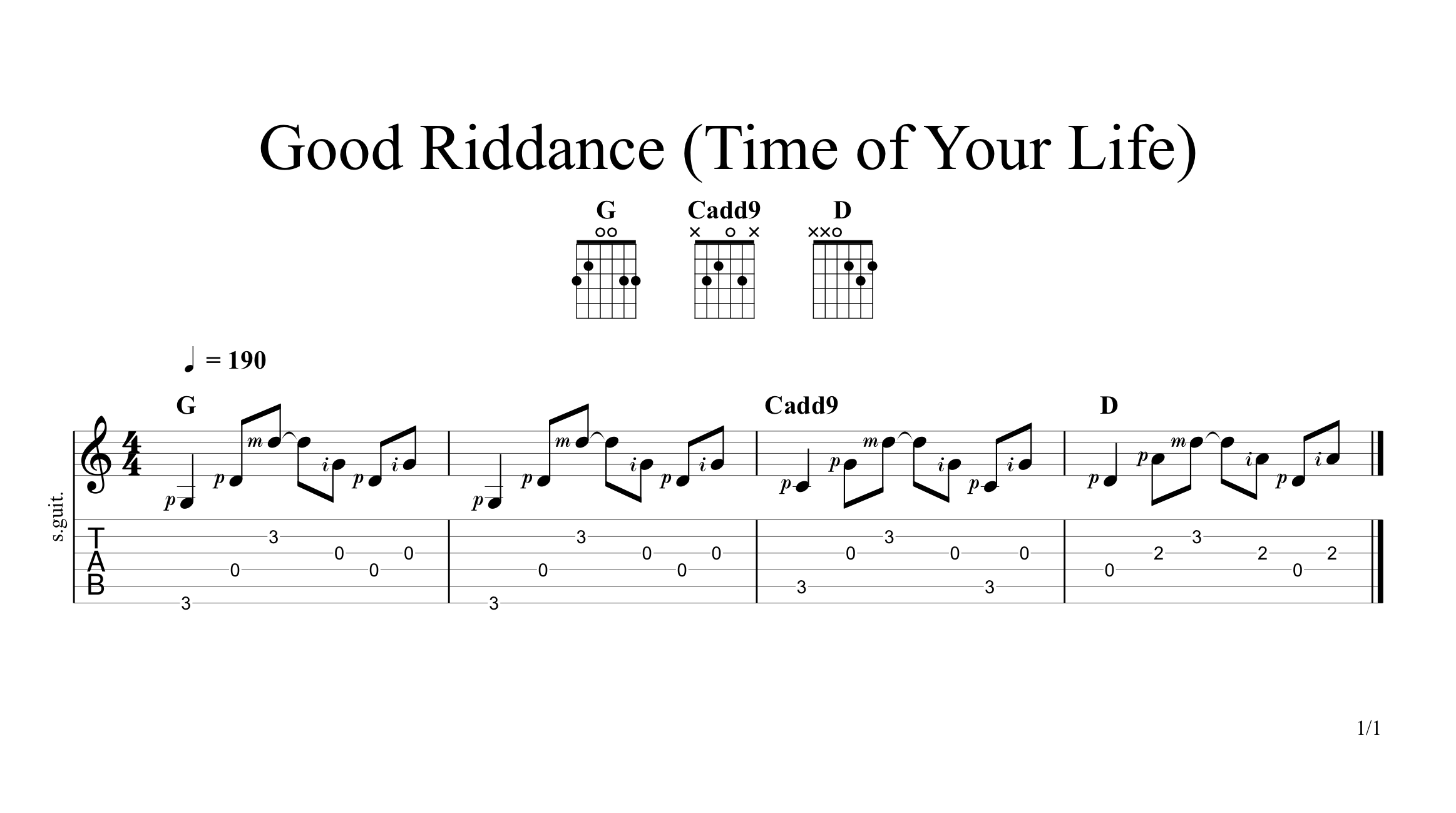 Good Riddance Time Of Your Life By Green Day Guitar Lesson
