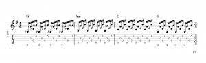 Fingerpicking pattern 12
