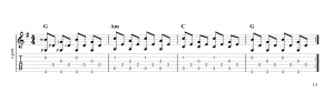 Fingerpicking pattern 15
