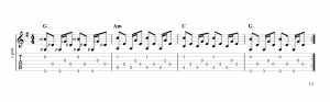 Fingerpicking pattern 17