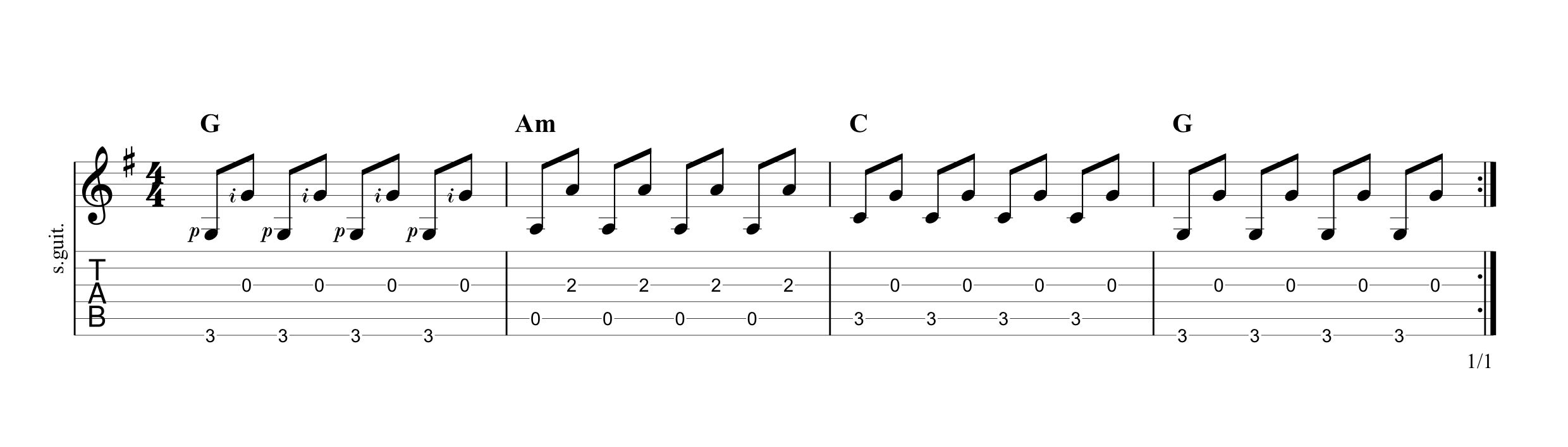 Fingerpicking Pattern 2