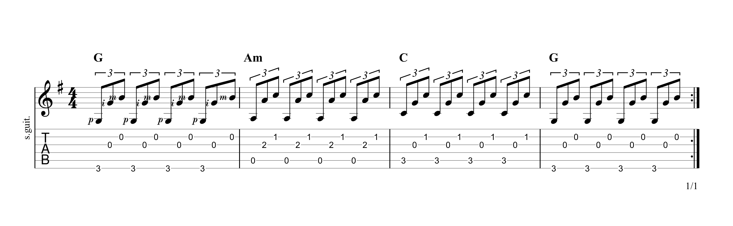 Fingerpicking Pattern 3