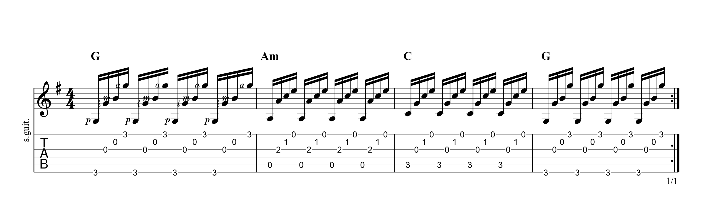 Fingerpicking Pattern 4