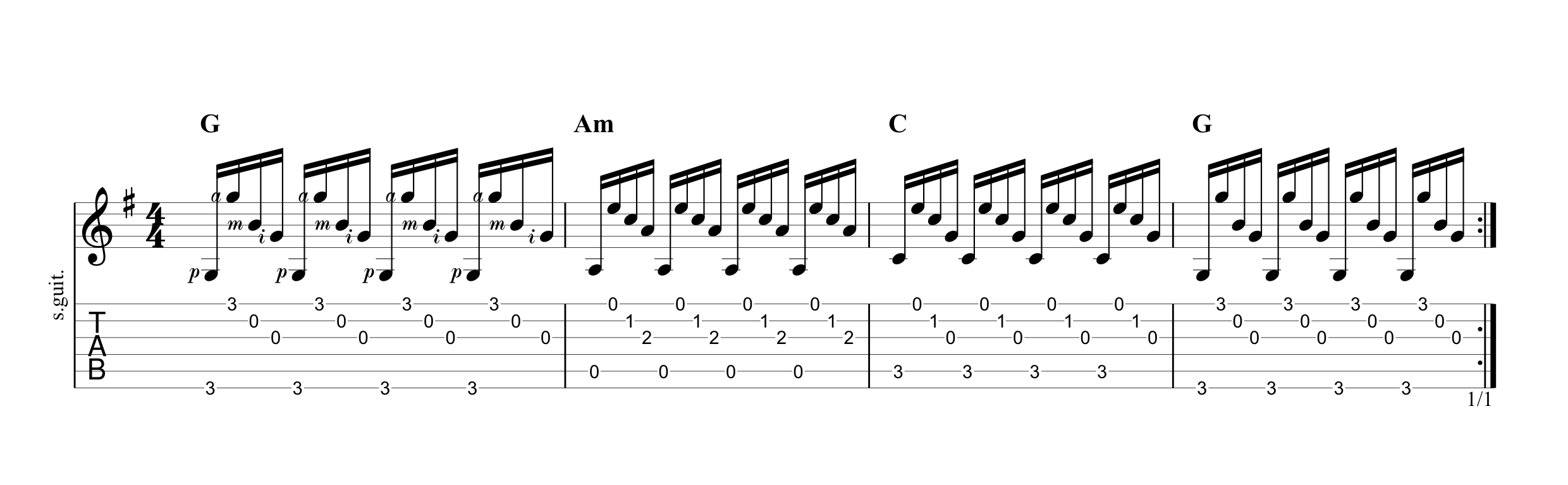 Fingerpicking Pattern 5