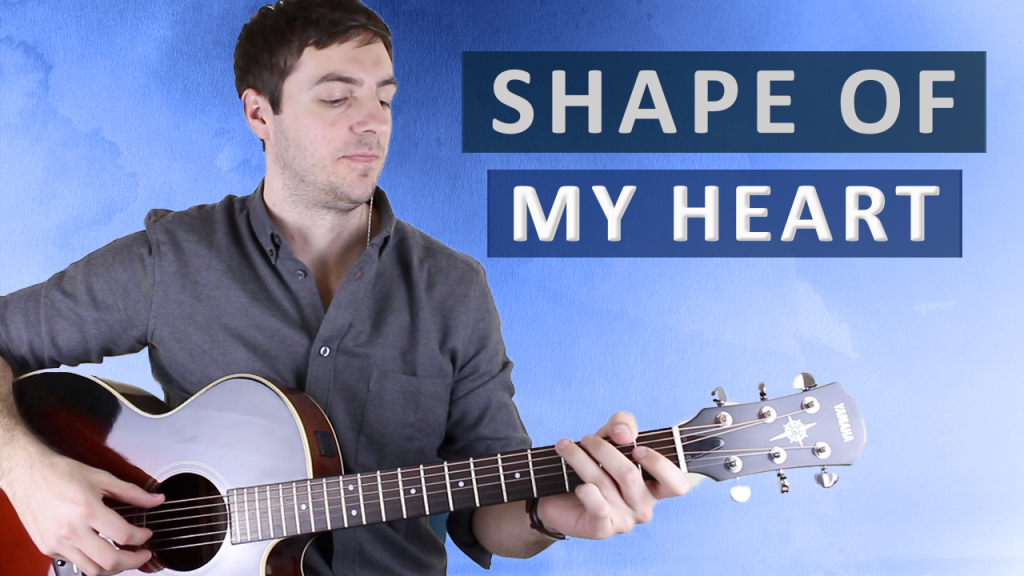 Shape Of My Heart By Sting Fingerstyle Guitar Lesson