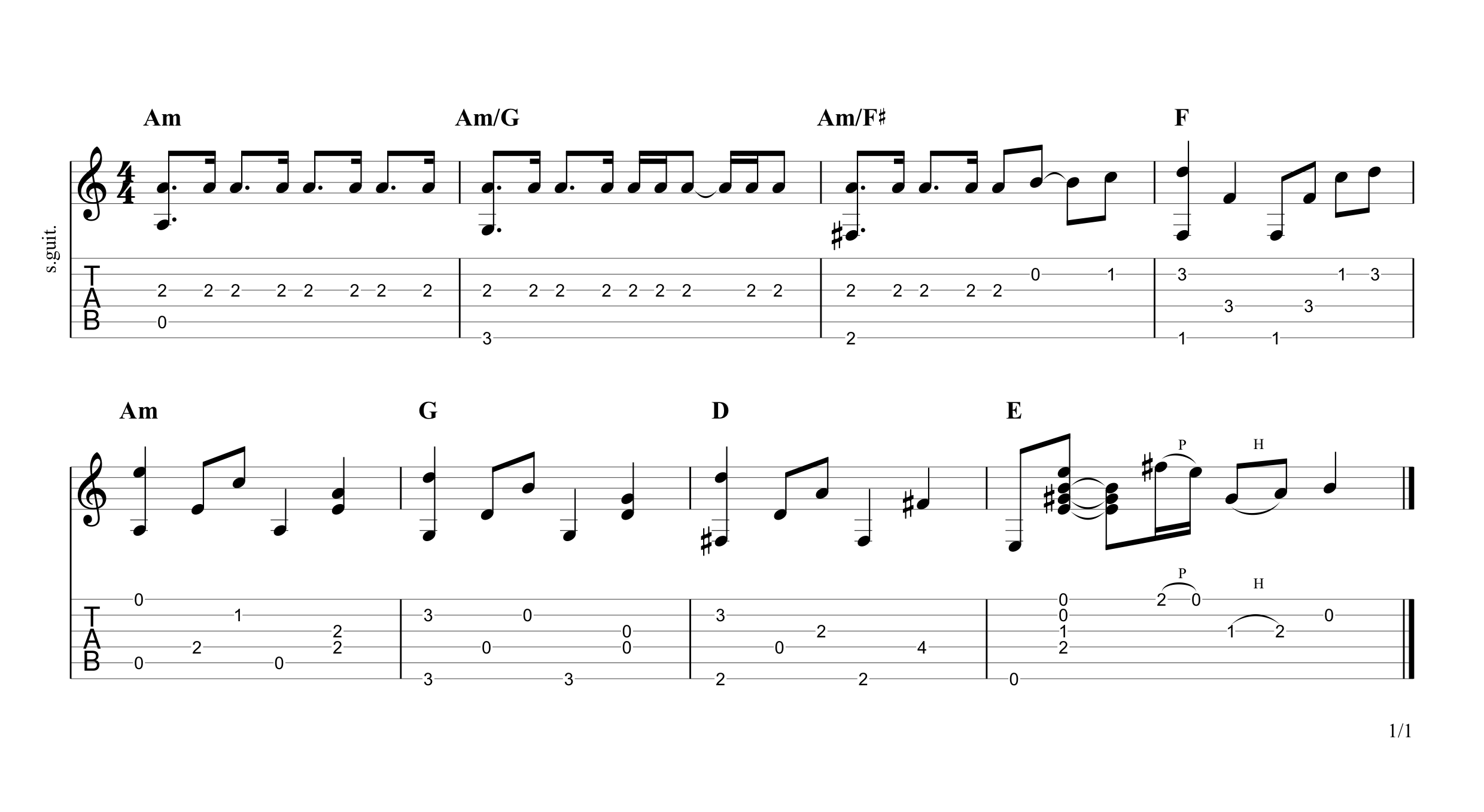 While My Guitar Gently Weeps (Intro) Tab