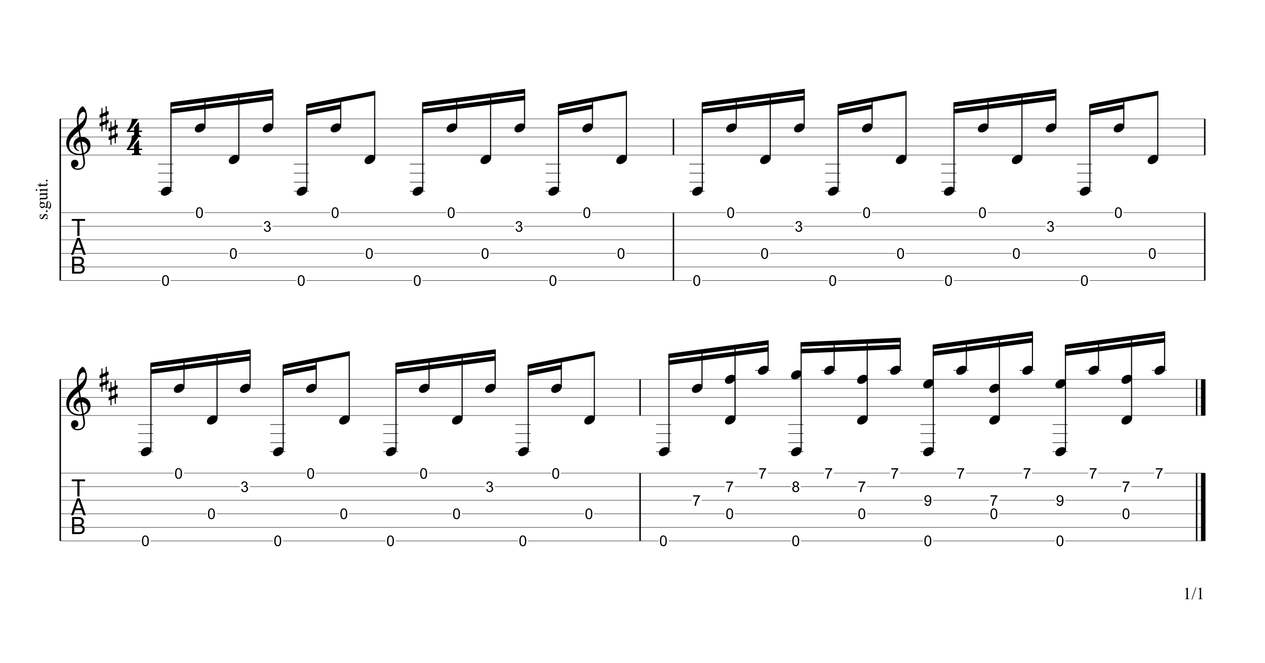 Going to California Intro Tab