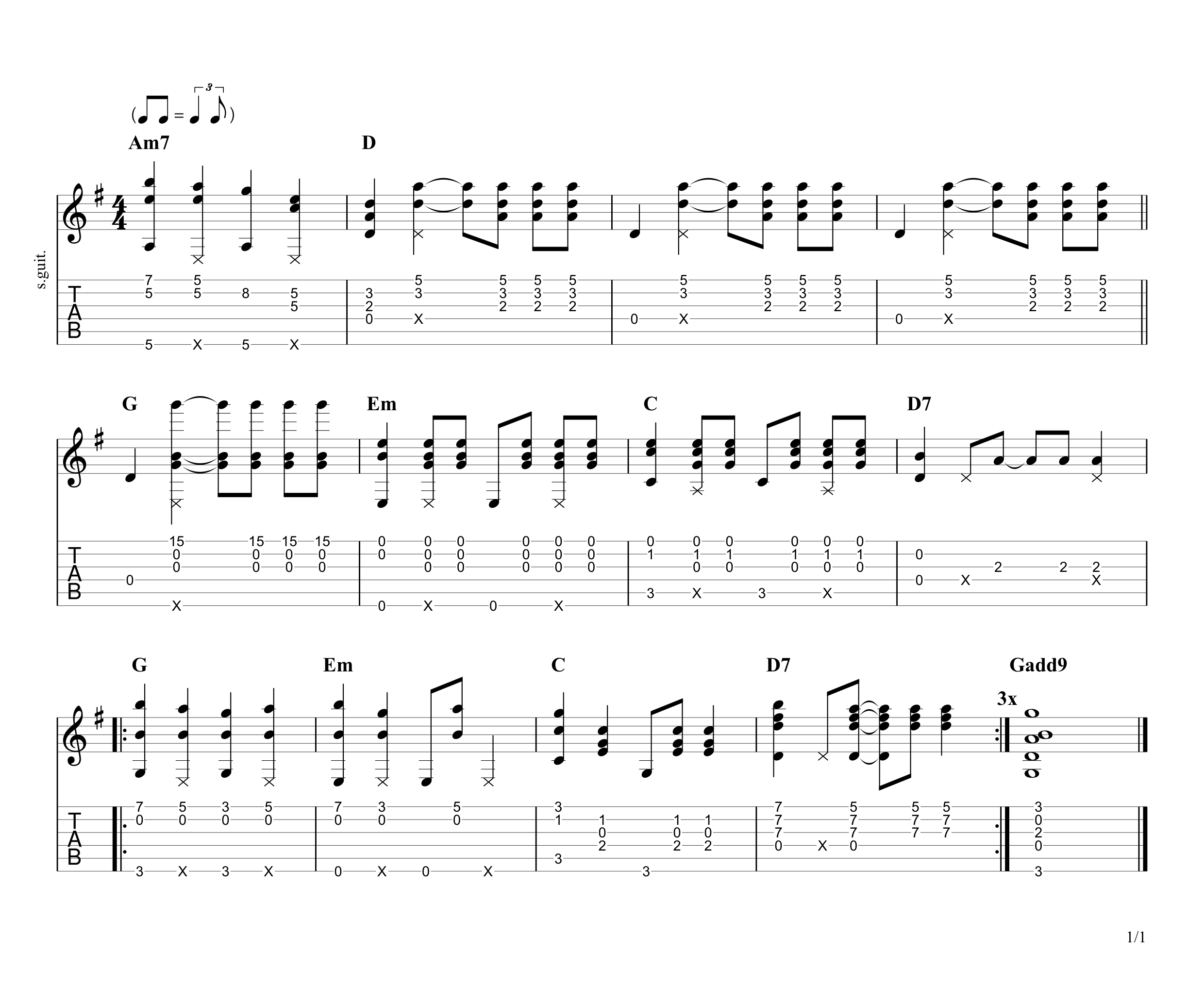 All I Want for Christmas is You Guitar Tab
