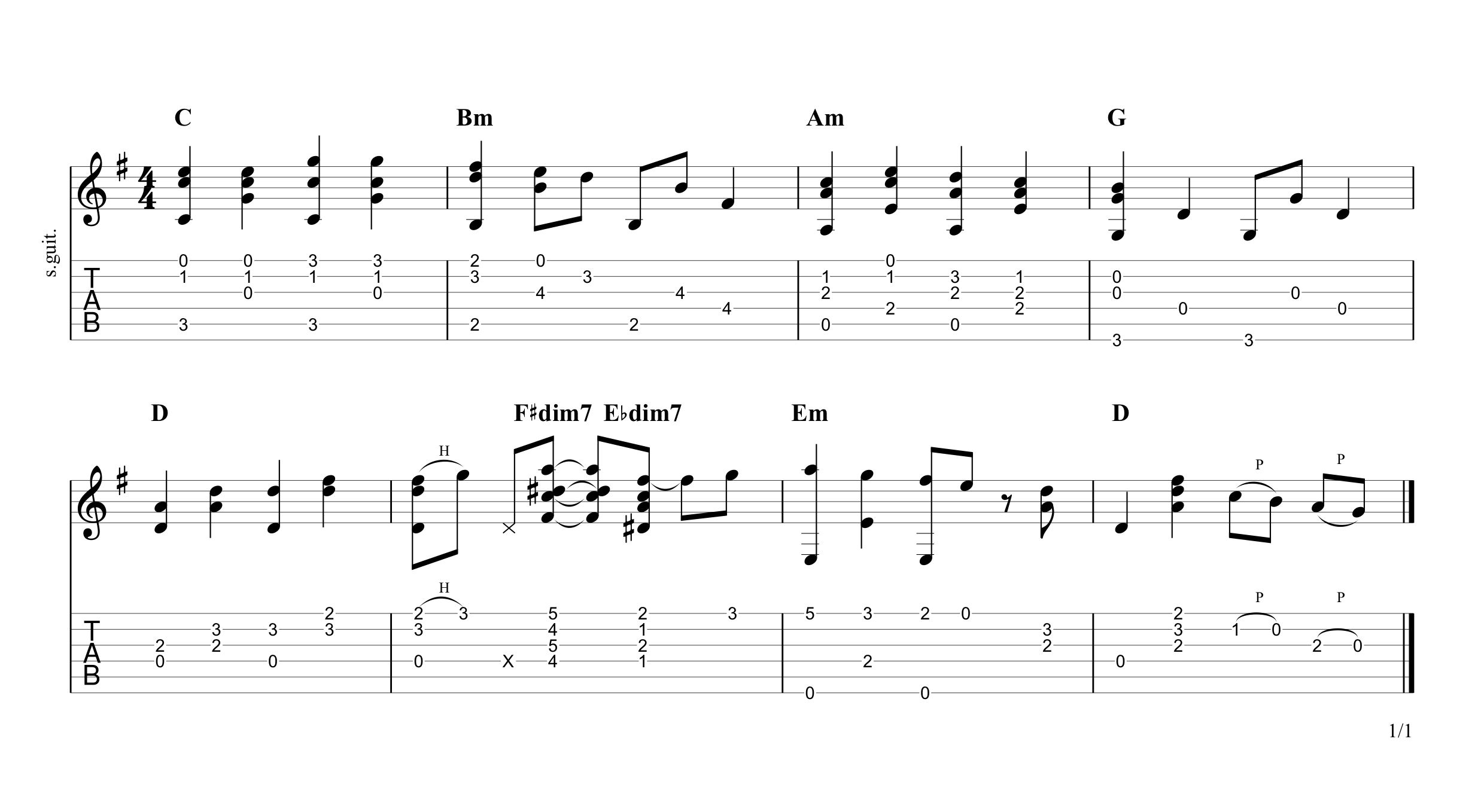 Frosty the Snowman Guitar Tab