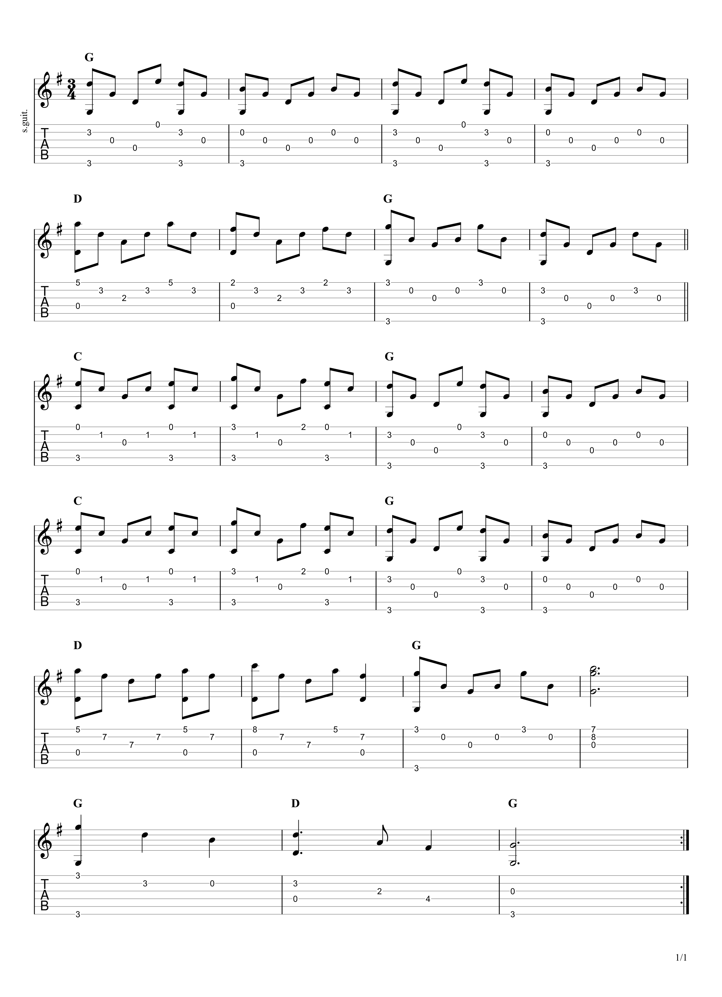 Silent Night Guitar Tab