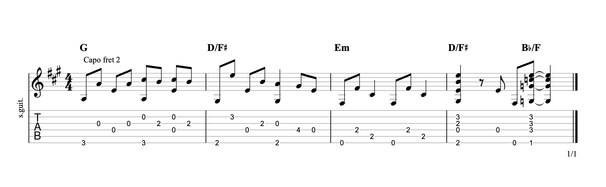 God Only Knows Guitar Tab
