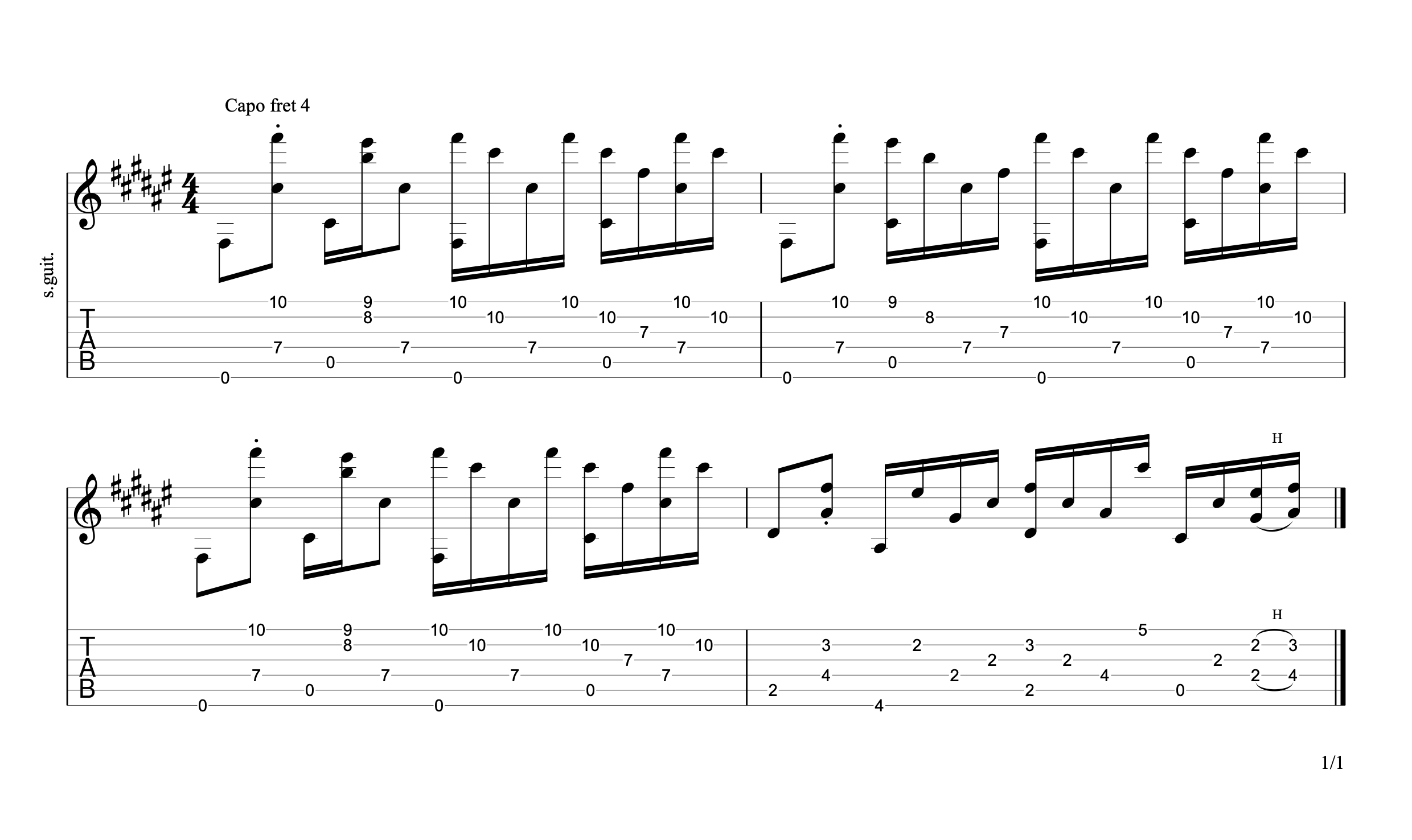 Never Going Back Again Guitar Tab