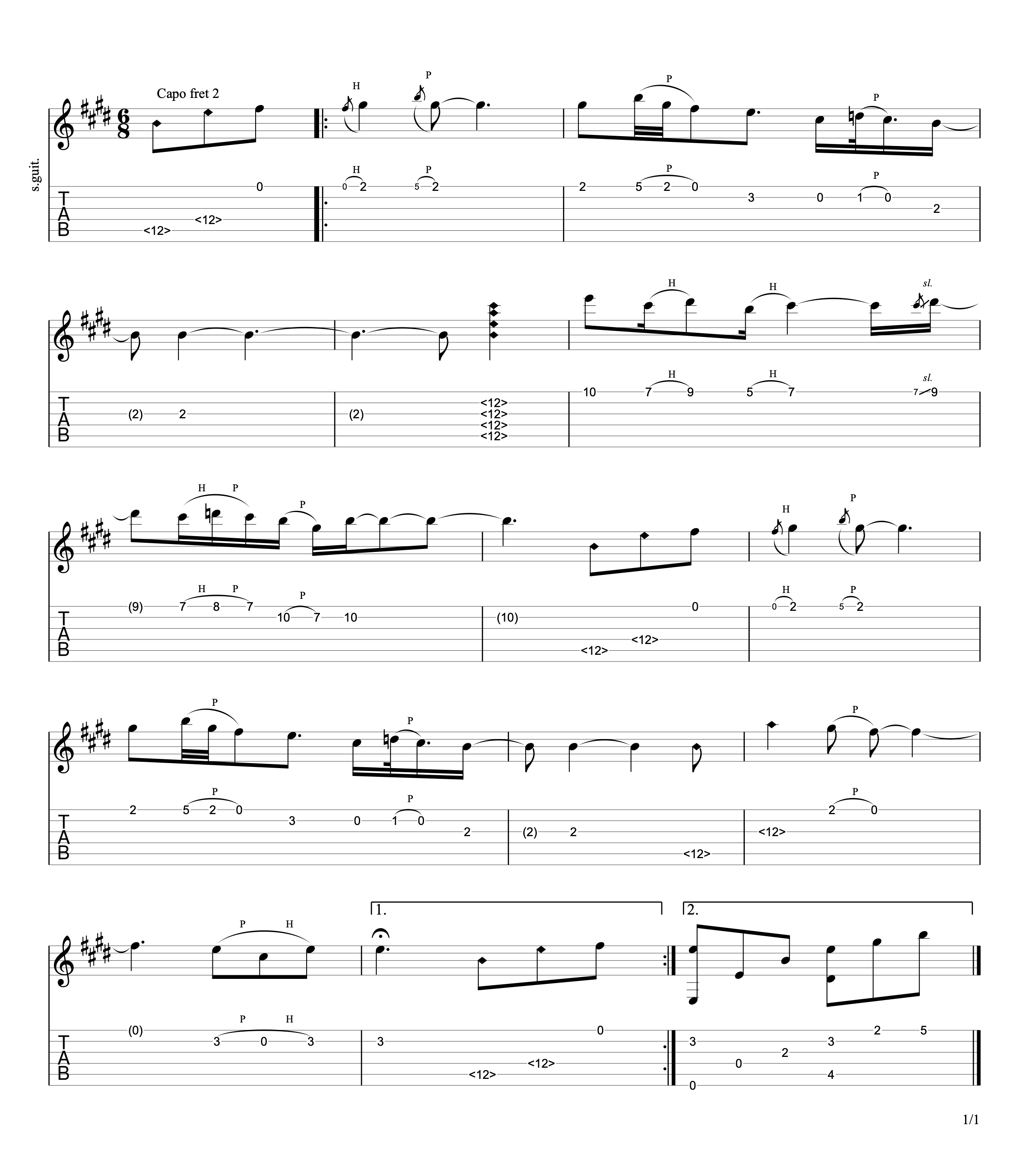 One Day Guitar Tab