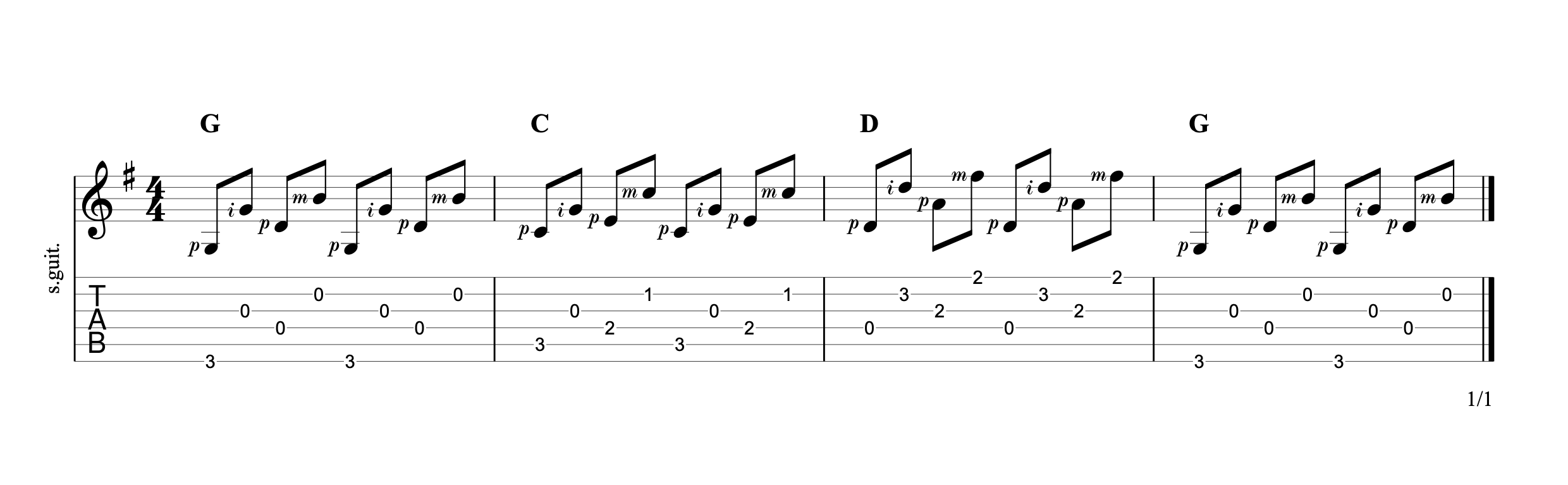 Alternating the Bass 5