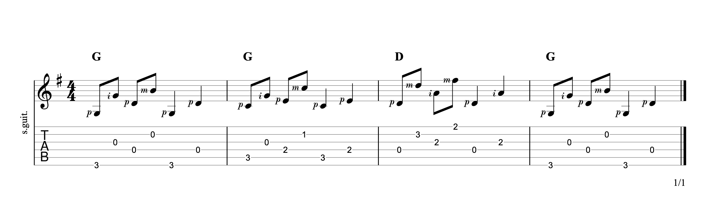 Alternating the bass 8