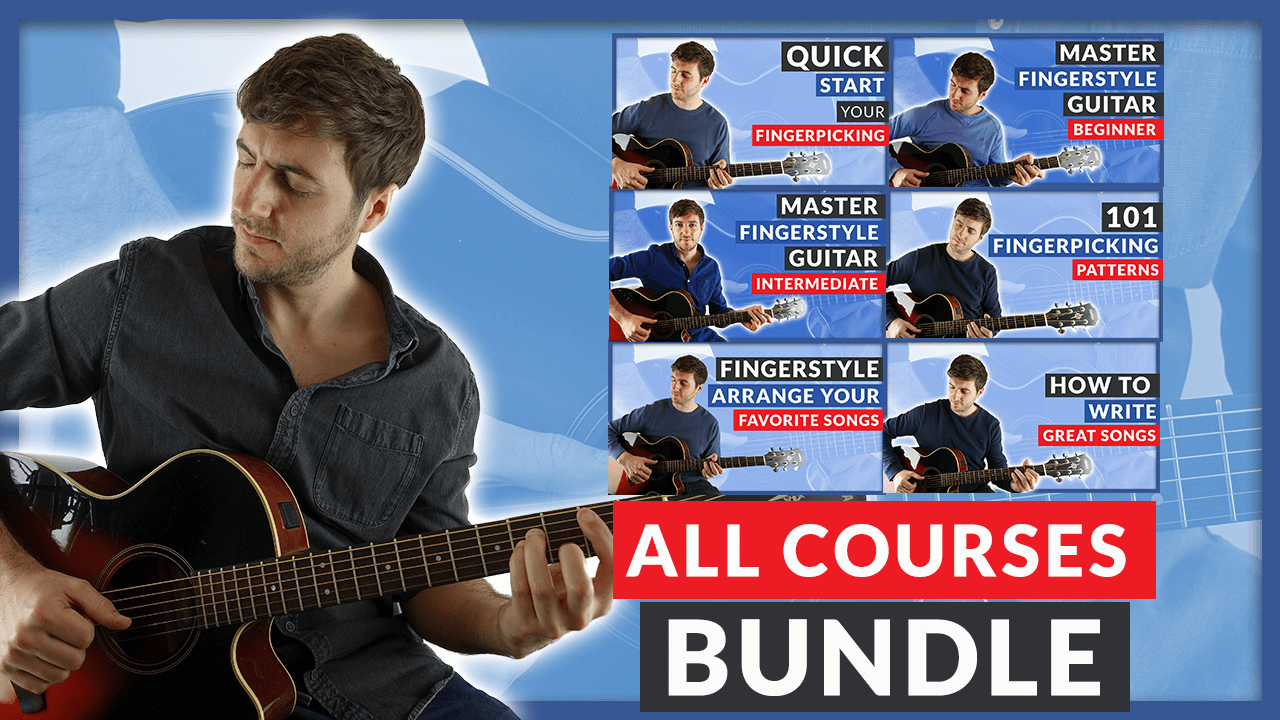 All Courses Fingerpicking Guitar Bundle